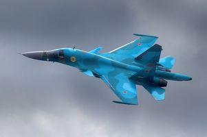 Бесплатные фото бомбардировщик, су-34, авиация