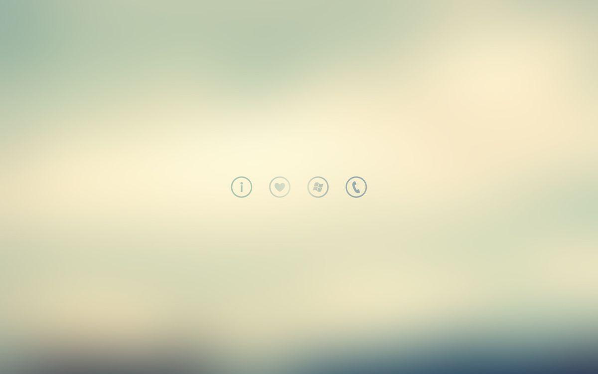 Фото бесплатно иконки, windows phone, minimalism, signs, минимализм, 1920x1200, icons, знаки, разное