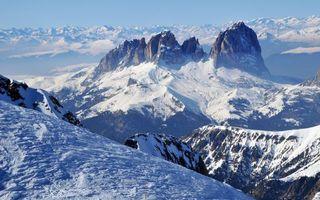 Бесплатные фото панорама, склон, snow mountains, winter scenery, горы, снег, пейзаж