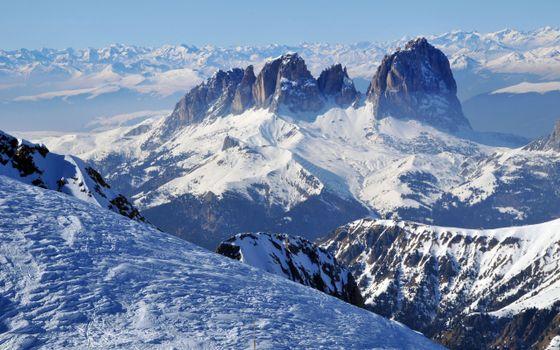 Бесплатные фото панорама,склон,snow mountains,winter scenery,горы,снег,пейзаж