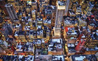 Бесплатные фото вечер,крыши,огни,зима,нью-йорк,здания,небоскребы