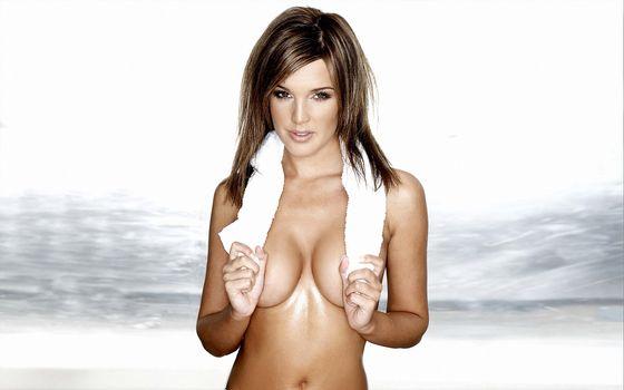 Photo free girl, beautiful, towel