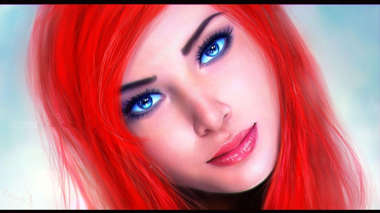 Фото бесплатно красные, губы, глаза - на рабочий стол
