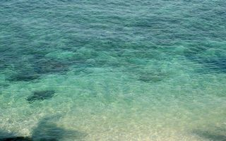 Обои дно, песок, океан, море, вода, волны, отпуск, отдых, юг, подводный мир
