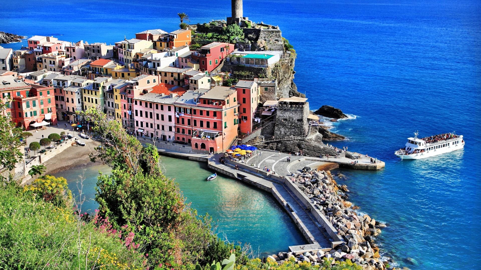 италия пляжи обои на рабочий стол № 507085 загрузить