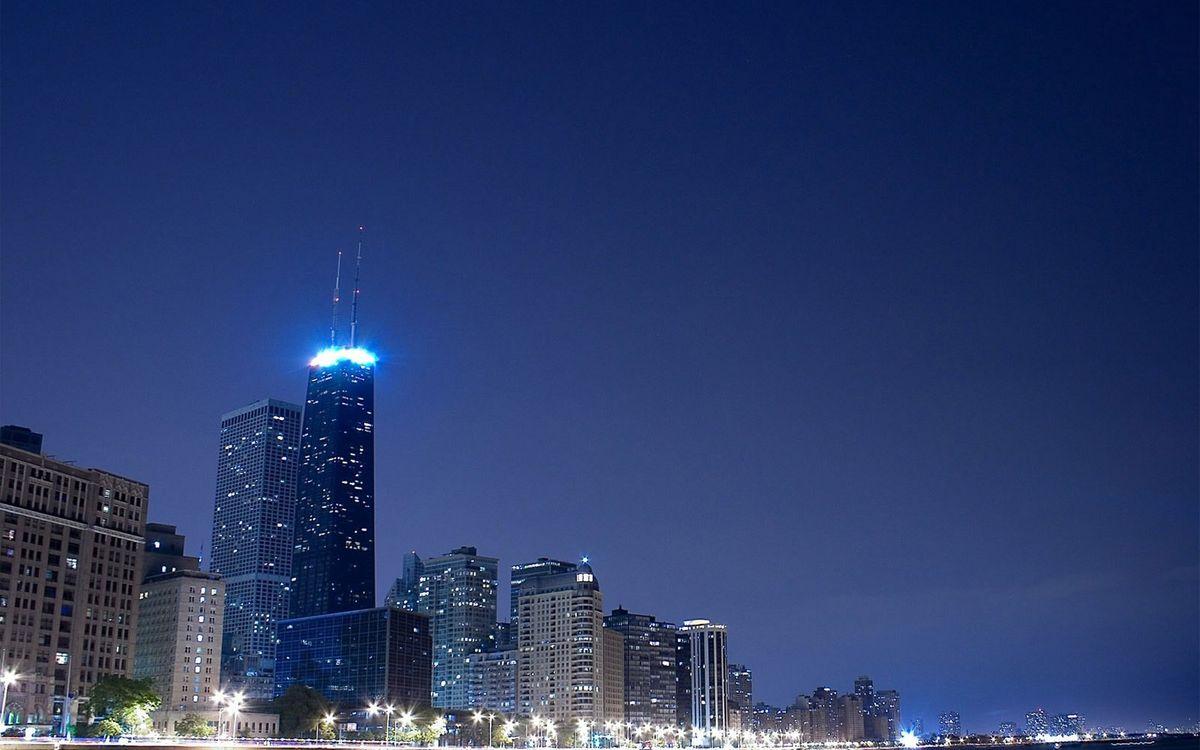 Фото бесплатно антенны, фонари, город - на рабочий стол