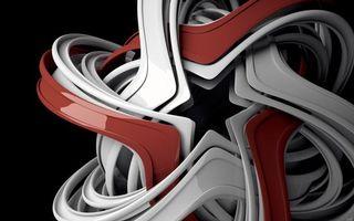 Бесплатные фото фигура,рисунок,изображение,линии,красные,белые,3d графика