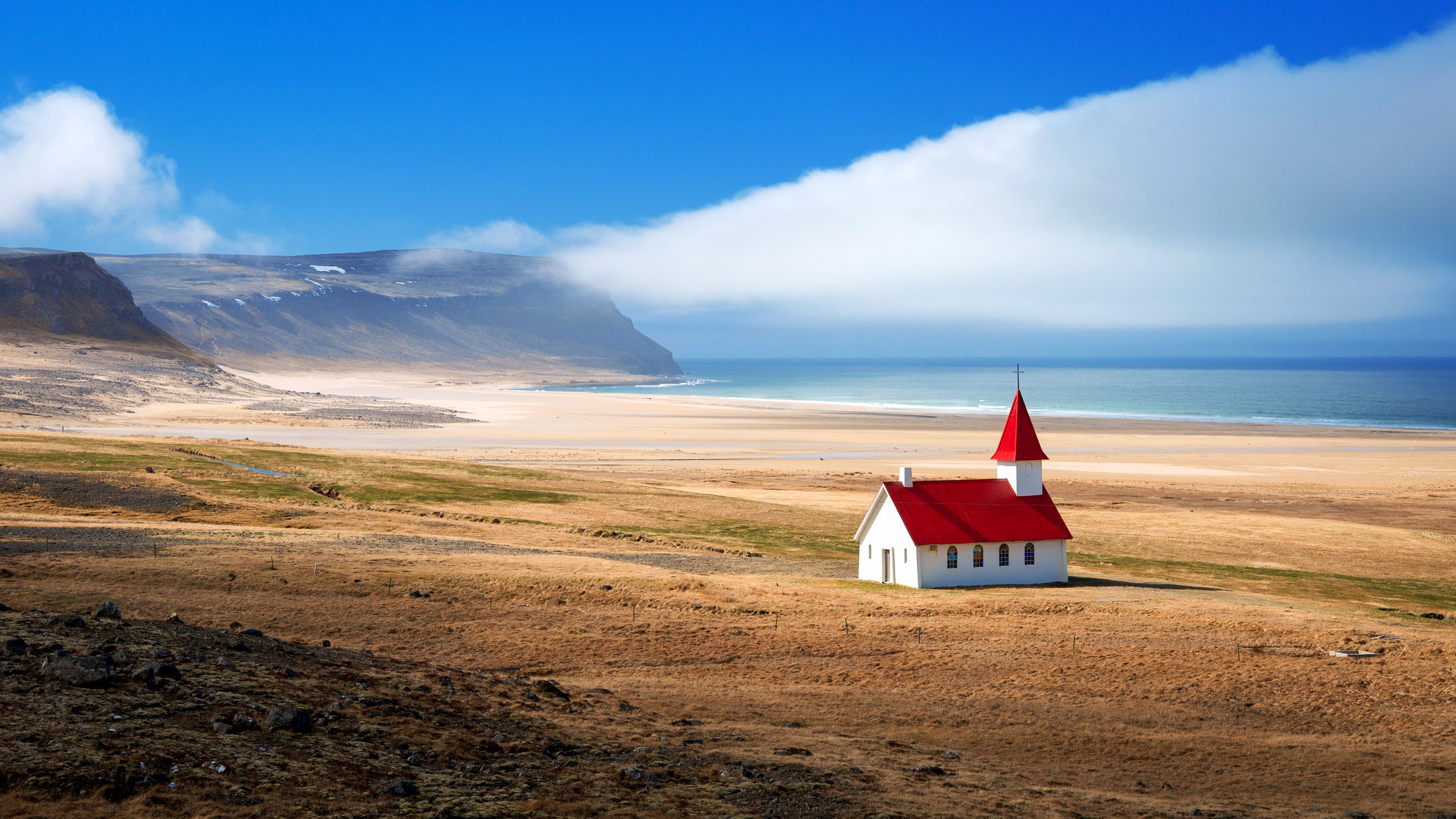 исландия, горы, море
