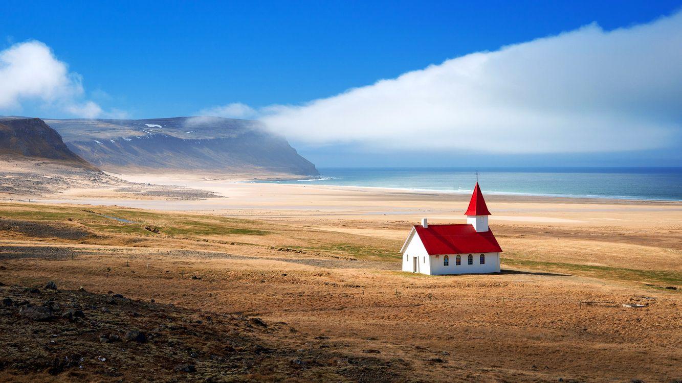 Фото бесплатно исландия, горы, море, пейзажи, пейзажи