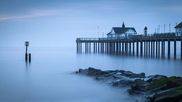 Фото бесплатно море, камни, туман