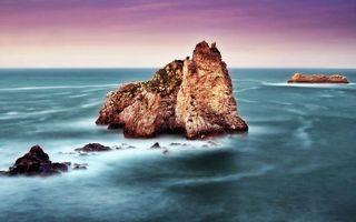 Фото бесплатно море, волны, скалы
