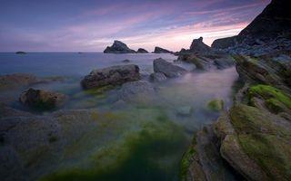 Фото бесплатно природа, океан, вечер