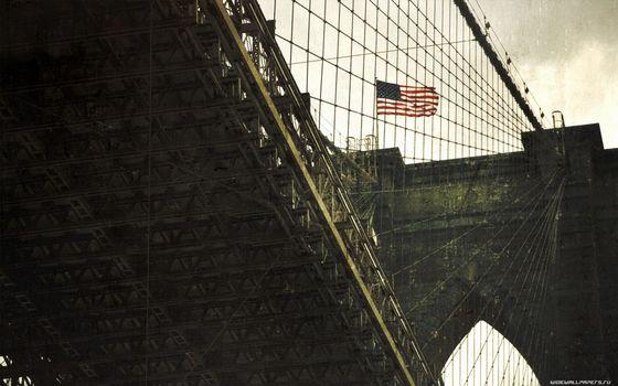 Бесплатные фото мост,сша,небо,облака,высоко,тросы,город
