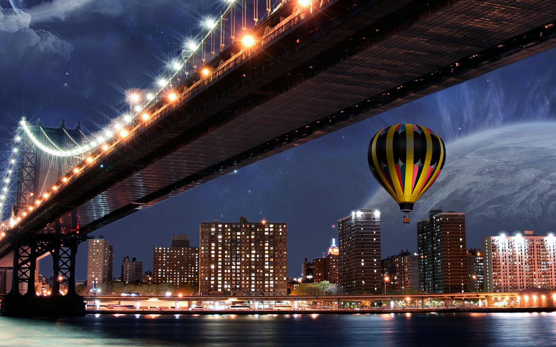 огни мост город ночь без смс