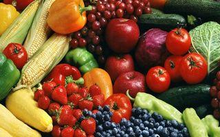Заставки овощи, фрукты, бананы, яблоки, клубника, перец, огурцы