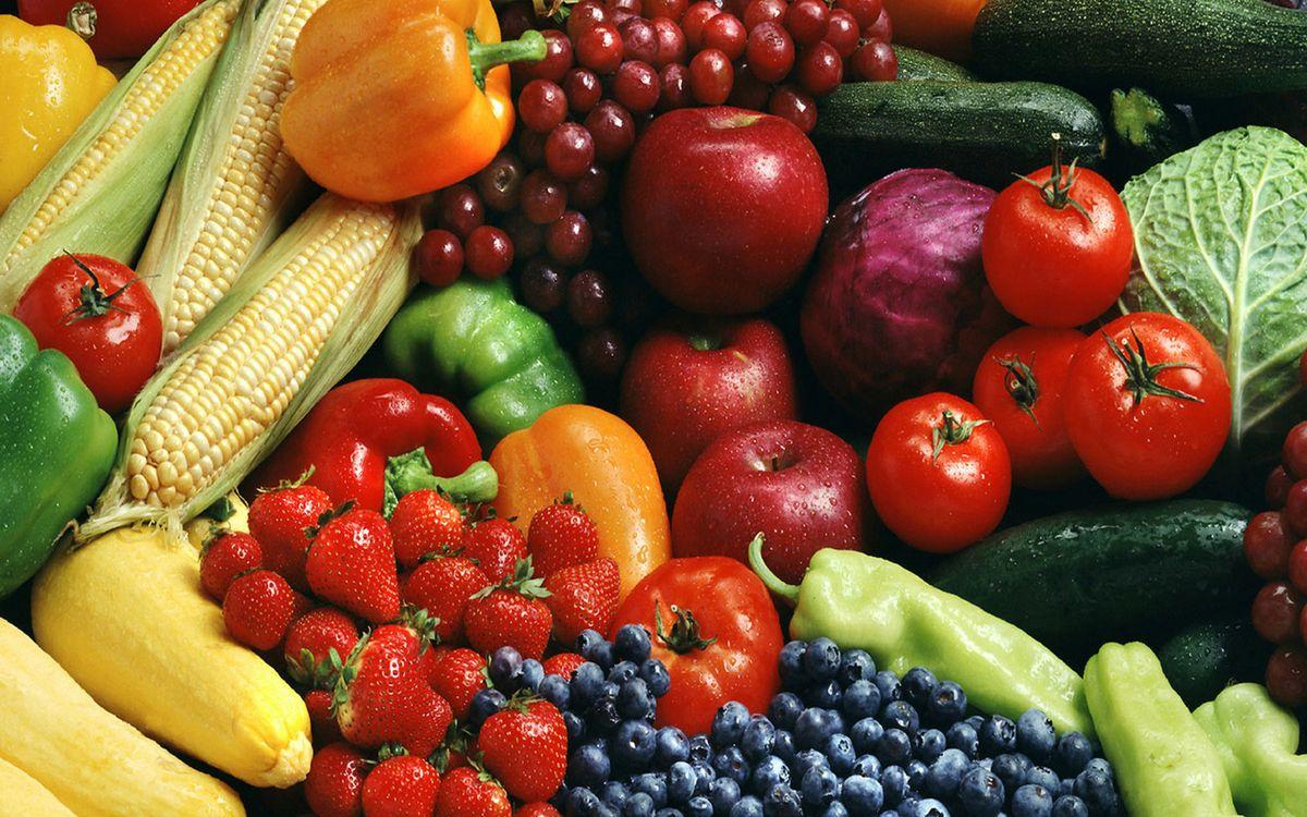 Фото бесплатно овощи, фрукты, бананы - на рабочий стол