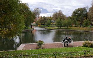 Фото бесплатно река, парк, люди, пала, скамейка, лавочка, отдых, клумба, дома, деревья, трава, природа, пейзажи