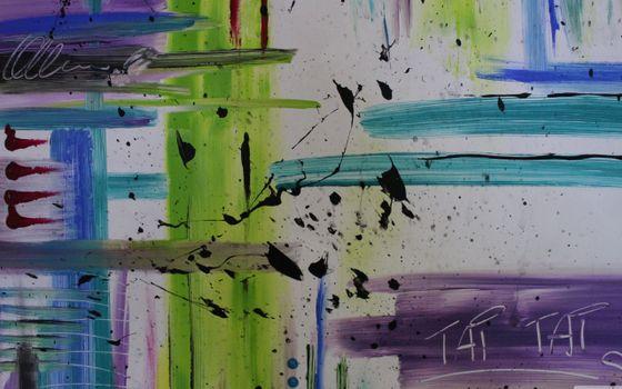 Бесплатные фото рисунок,кистью,красками,подпись,клякса,черная,разное