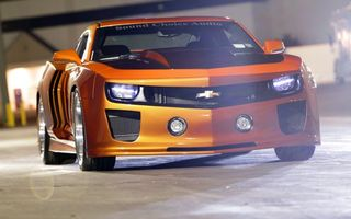 Photo free chevrolet, camaro, orange