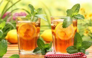 Заставки стаканы,питье,полдник,пикник,мята,лимоны,лимонад