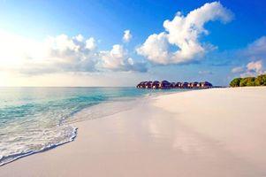 Фото бесплатно бунгало, море, пляж