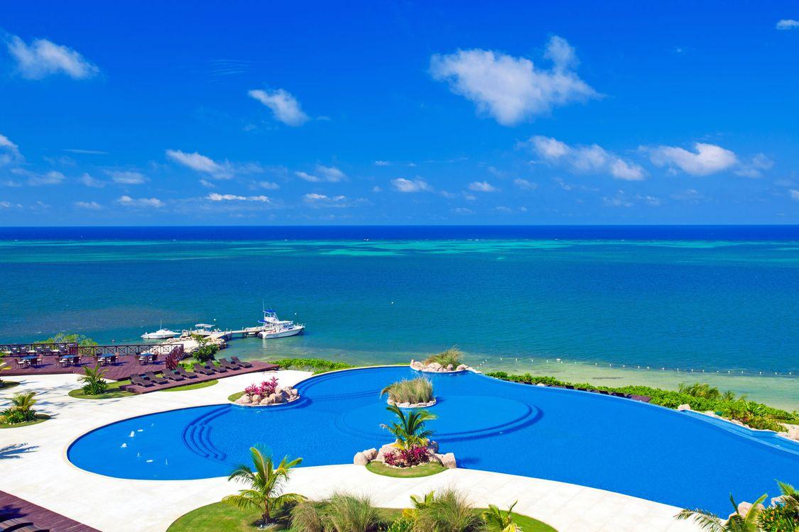 Фото бесплатно пейзажи, бассейн, тропики - на рабочий стол