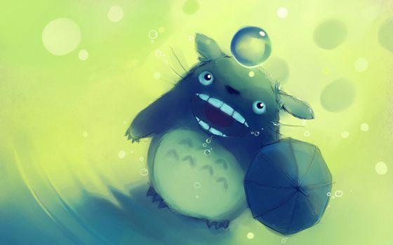 Фото бесплатно зверек, пикачу, зонтик, рисунок, тело, глаза, лапки, капли, взгляд, мультфильмы
