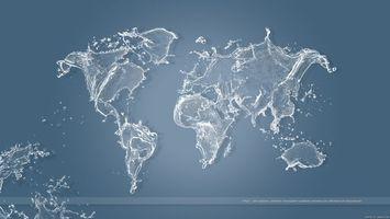 Фото бесплатно карта світу, вода, синій