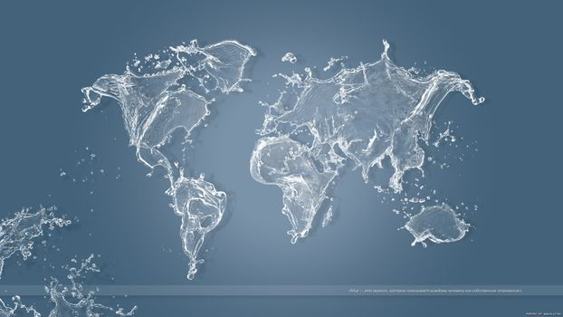 Photo free map of the world, water, blue