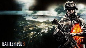 Бесплатные фото battlefield 3,автомат,игры,батл