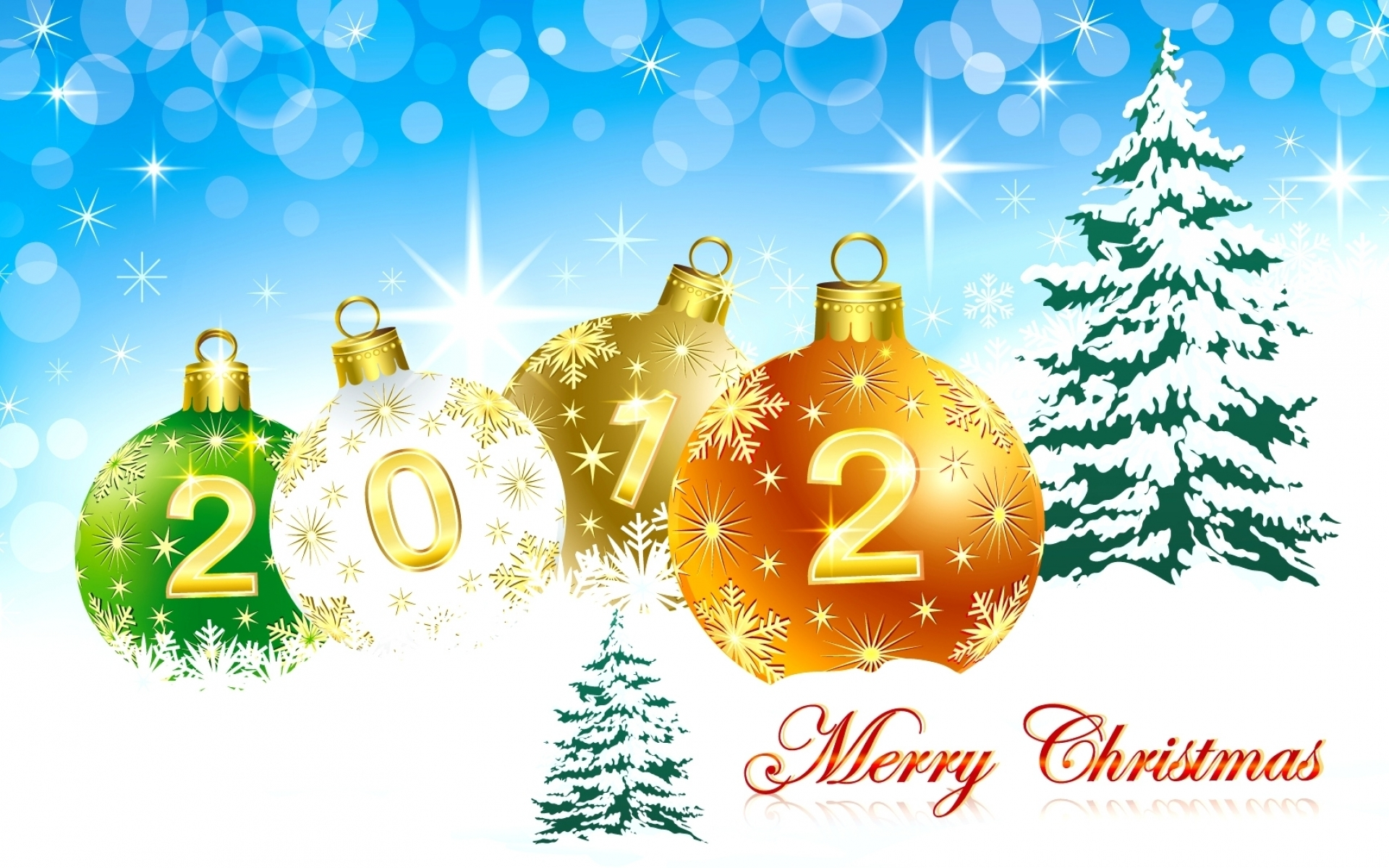Обои поздравление с новым годом 2012 открытка цифры для
