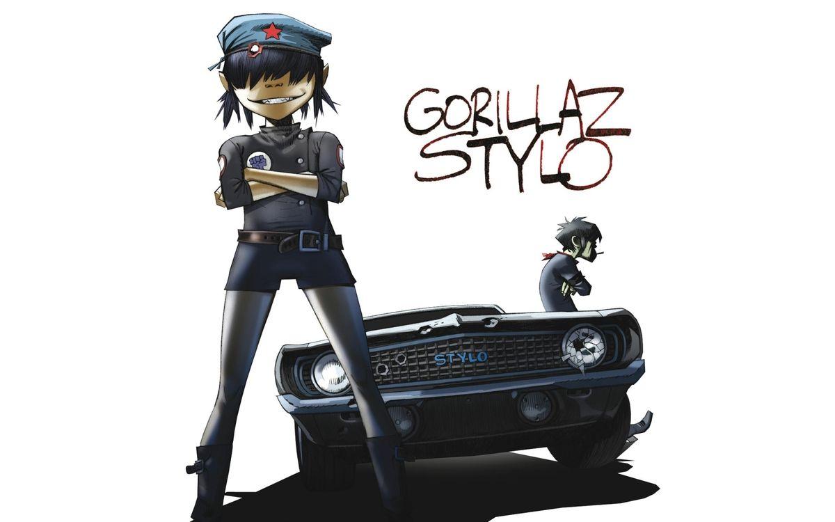 Картинка murdoc, музыка, машина, gorillaz, noodle на рабочий стол. Скачать фото обои разное