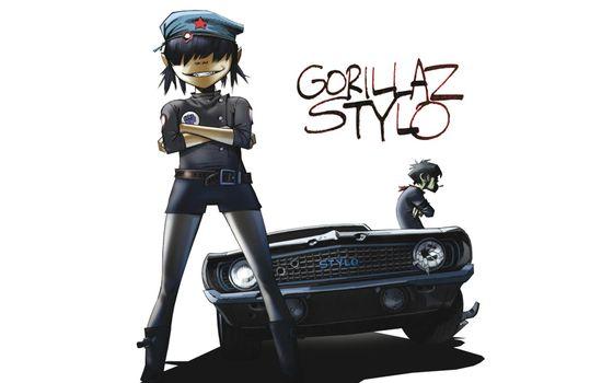 murdoc, музыка, машина, gorillaz, noodle