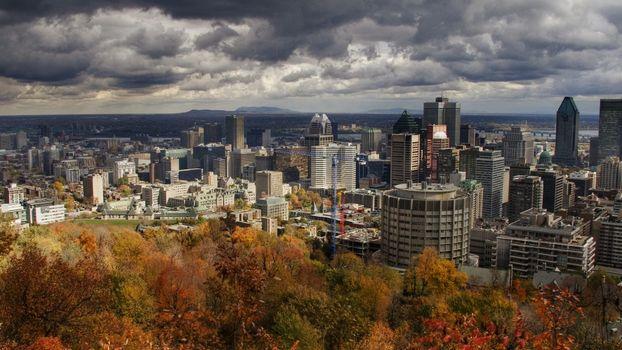 Фото бесплатно город, большой, облака