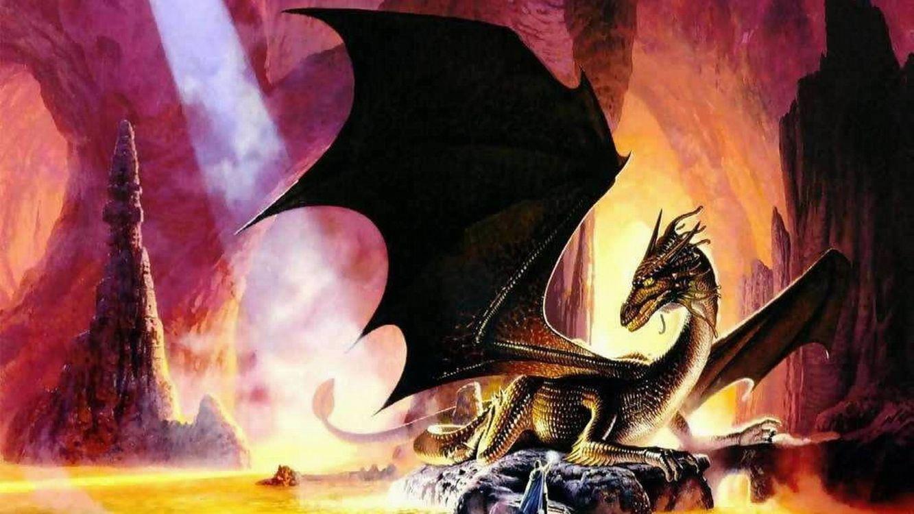 Фото бесплатно дракон, крылья, голова, лапы, когти, камни, скалы, огонь, мультфильмы, мультфильмы