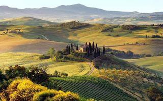 Бесплатные фото холмы,природа,деревья,дома,горы,дорога,осень