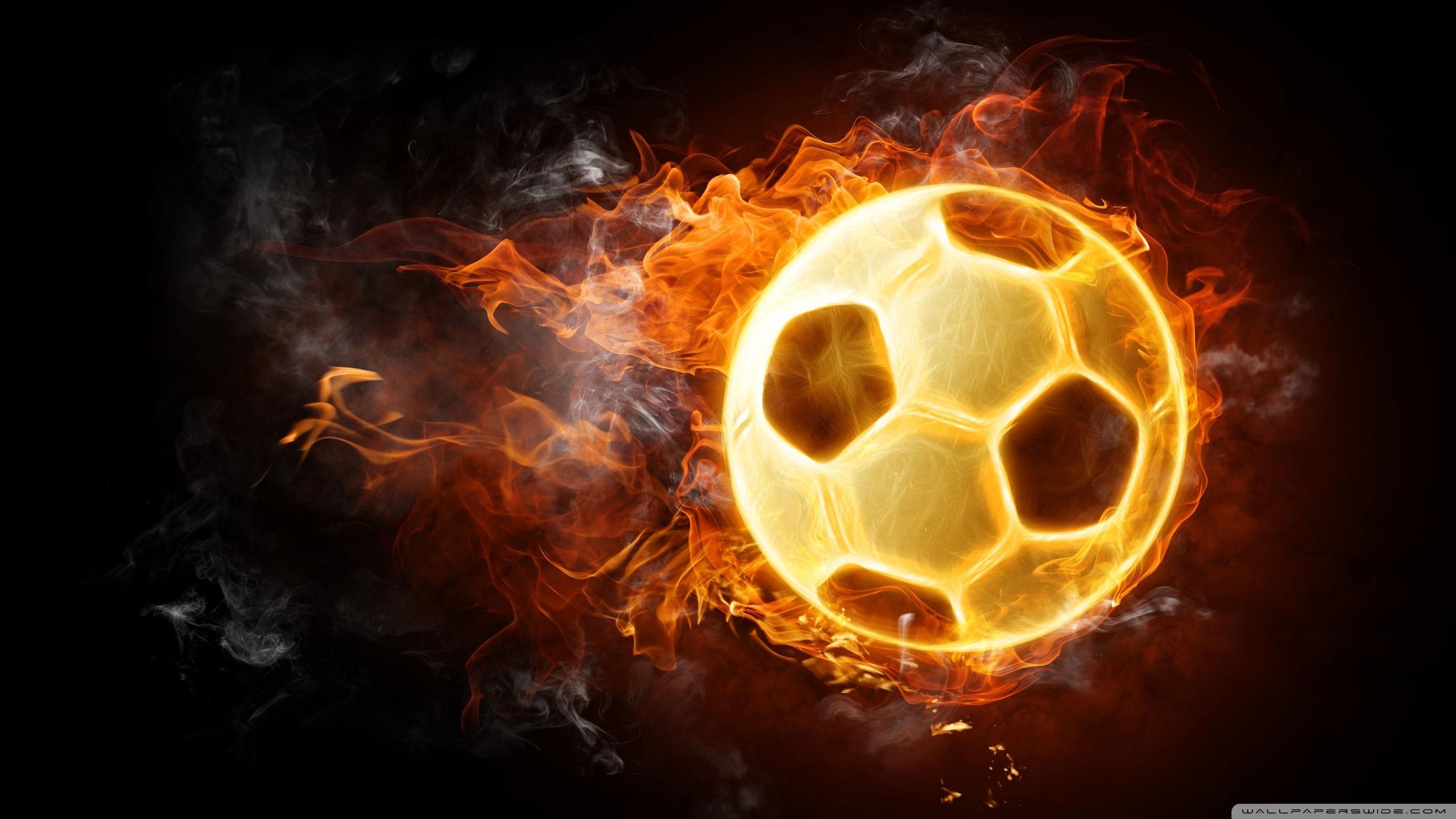 Обои огонь, мяч, летит, полёт