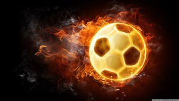 Фото бесплатно огонь, мяч, летит