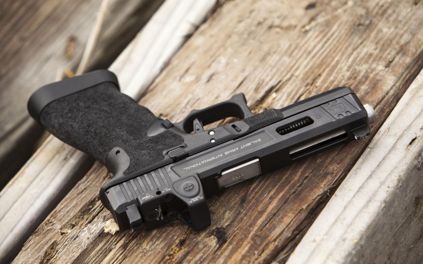 пистолет, черный, рукоять