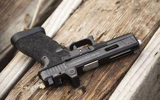 Photo free pistol, black, hilt
