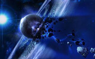 Бесплатные фото планета,камни,астероиды,метеориты,осколки,воронка,кольца