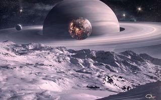 Фото бесплатно планета, сатурн, юпитер