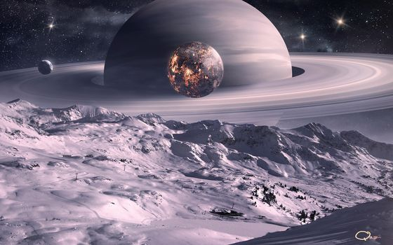 Photo free planet, saturn, jupiter