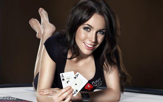 Photo free poker stars, brunette, poker