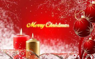 Фото бесплатно рождество, свеча, надпись