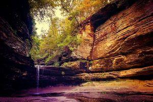 Фото бесплатно Штат Иллинойс, State Park, Illinois, водопад, скалы, деревья, пейзаж