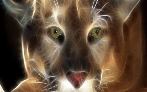 Бесплатные фото собака,морда,глаза,уши,линии,графика,3d графика
