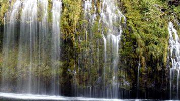 Бесплатные фото водопад,деревья,горы,холмы,красиво,вода,река