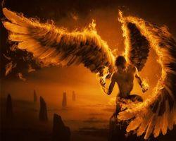 Фото бесплатно wings, fantasy, orange