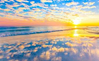 Бесплатные фото закат, море, волны, пляж, пейзаж